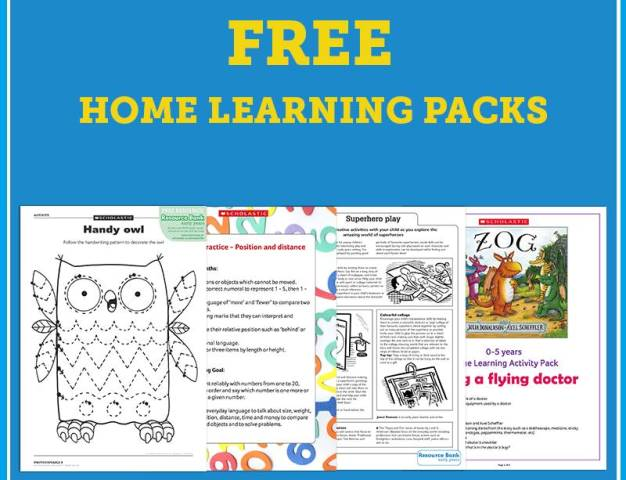 Free at-home learning pack of educational resources