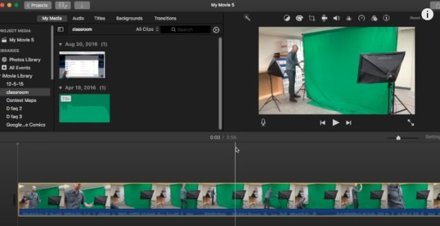Apple iMovie video editor application software
