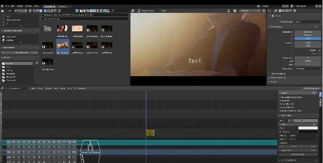 Blender video-editing application software for PCs