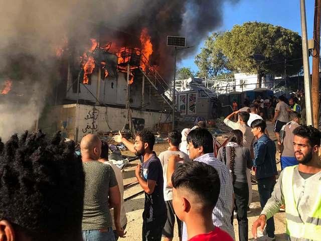 Fire outbreak in Greece