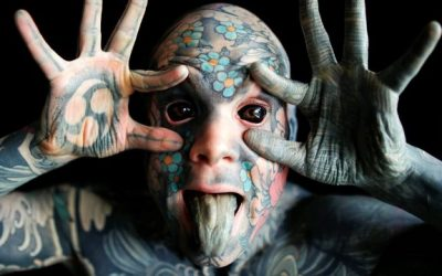 The most tattooed man is a primary school teacher