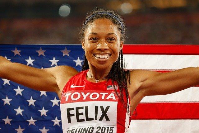 Allyson Felix - a female athlete