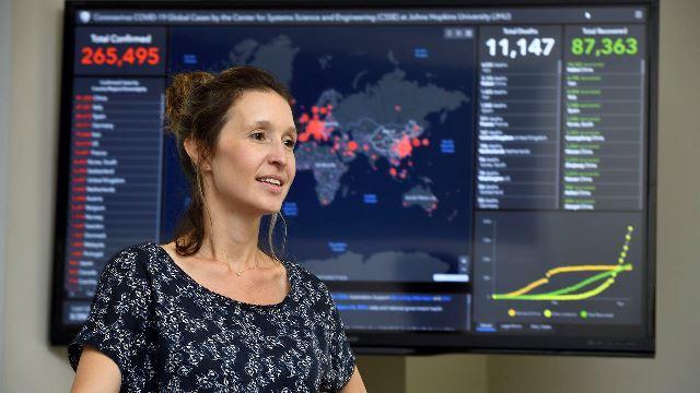Lauren Gardner – the developer of COVID-19 real-time global data-tracking dashboard.