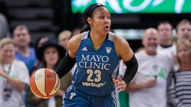 Maya Moore – a professional woman basketball player and social justice advocate