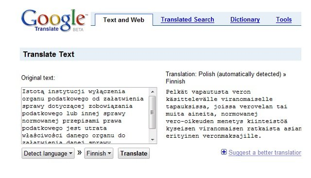 Google Translate Text and Web for PCs, Android and iPhones