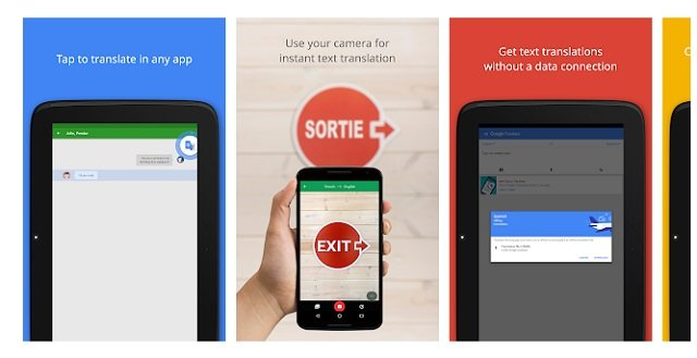 Google Translate app for Android, Windows PC and Mac OS; and iPhones and iPads