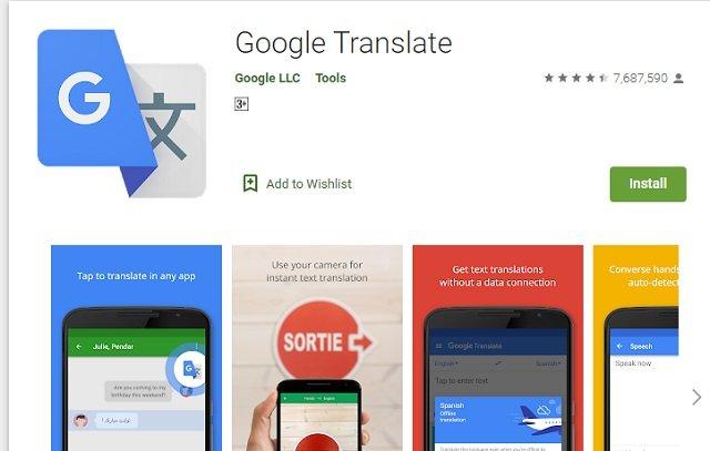 Google Language Translate apps for download