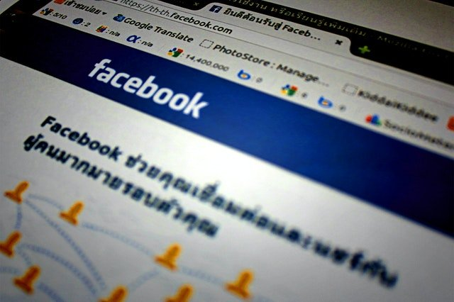 Facebook browsing page