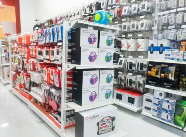 Computer parts stores for computer accessories and peripherals.