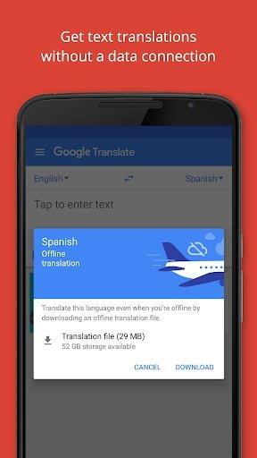 Google Offline Translation without Internet Services