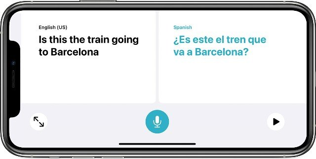 iPhone Language Translation text
