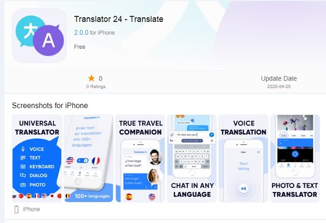 iPhone Translation app download free